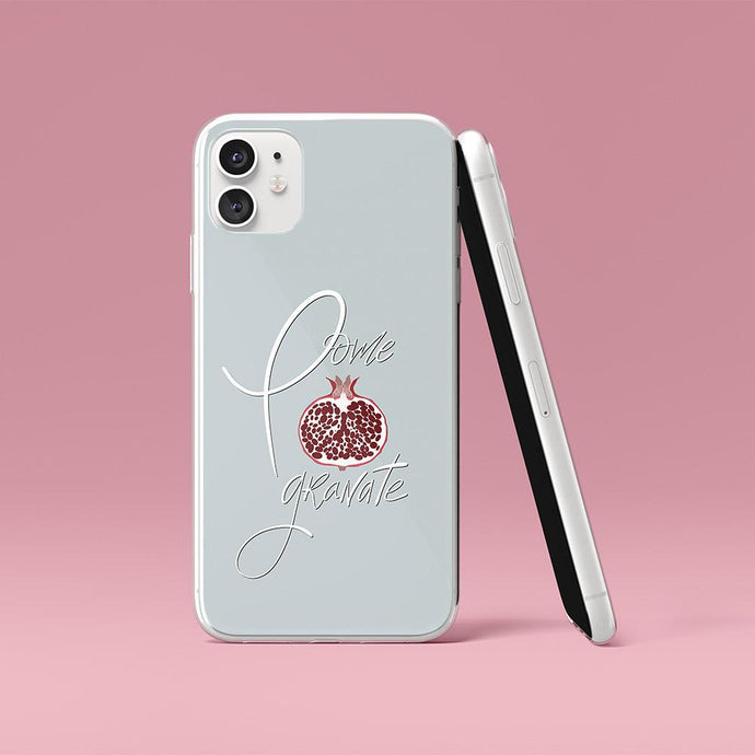 Grey iPhone Case Pomegranate
