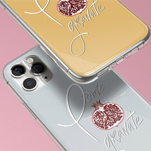 Load image into Gallery viewer, Grey iPhone Case Pomegranate