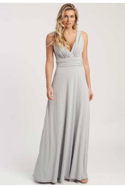 REVIE LONDON LANA MAXI DRESS IN DOVE GREY