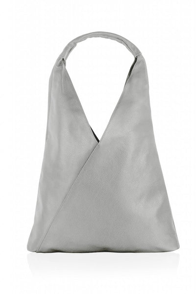 """WOODLAND LEATHERS WOODLAND LEATHER 18"""" LIGHT GREY LEATHER TOTE BAG WITH ATTACHED PURSE SINGLE SHOULDER CARRY HANDLE"""