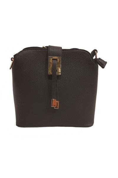 """WOODLAND LEATHERS WOODLAND LEATHER BLACK 9.0"""" OVAL SHAPE 3 CENTRAL COMPARTMENTS TASSEL FRONT BAG"""