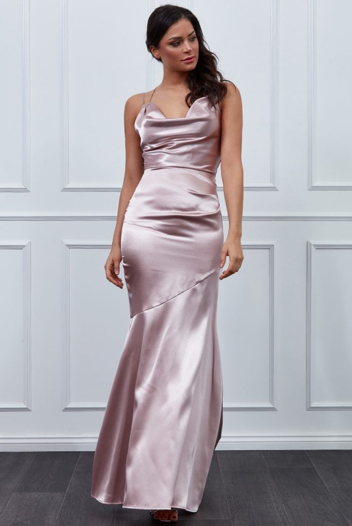 Vicky Pattison - Cowl Neck with strappy back maxi dress