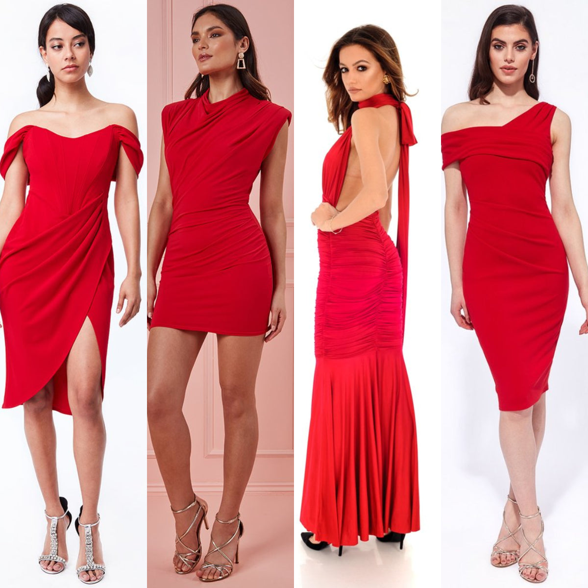 Red Dresses Date Night Outfit Ideas