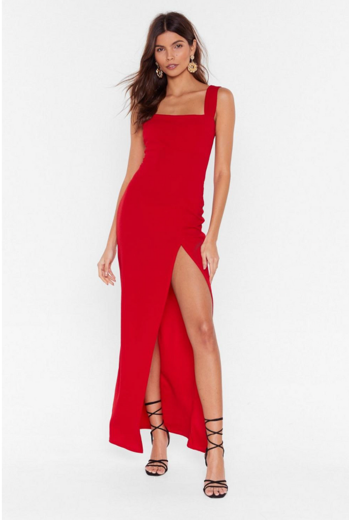 Square With Me Maxi Dress, by Nasty Gal