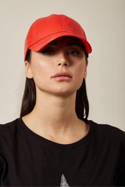 Red Leather Cap