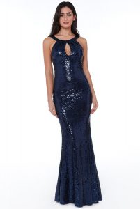 Fishtail Sequin Maxi Dress