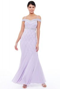 lavender embroidered maxi dress