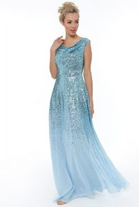 Powder Blue sequin maxi dress