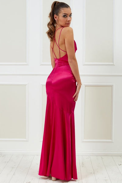 Vicky Pattison Cowl Neck With Strappy Back Maxi Dress