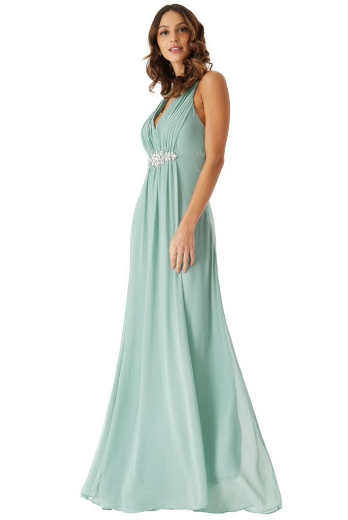 duck egg green maxi dress
