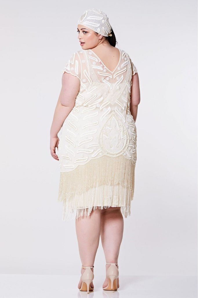 Vegas Vintage Inspired Fringe Dress - Hand Embellished Gatsbylady London
