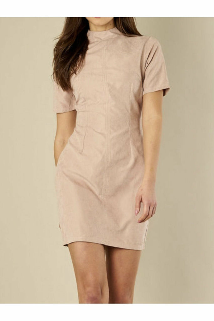 Madam Rage Nude suede mini dress
