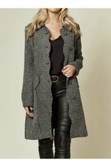 Fever London Scalloped Front Coat