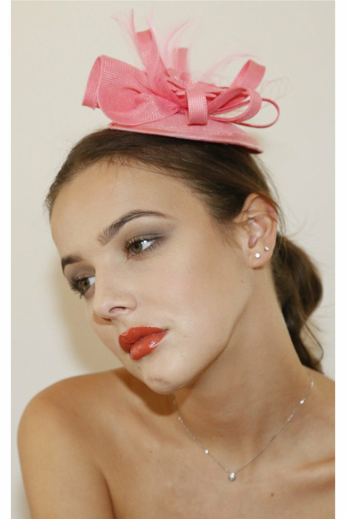 RubyRocks Jacinta Fascinator - Pink