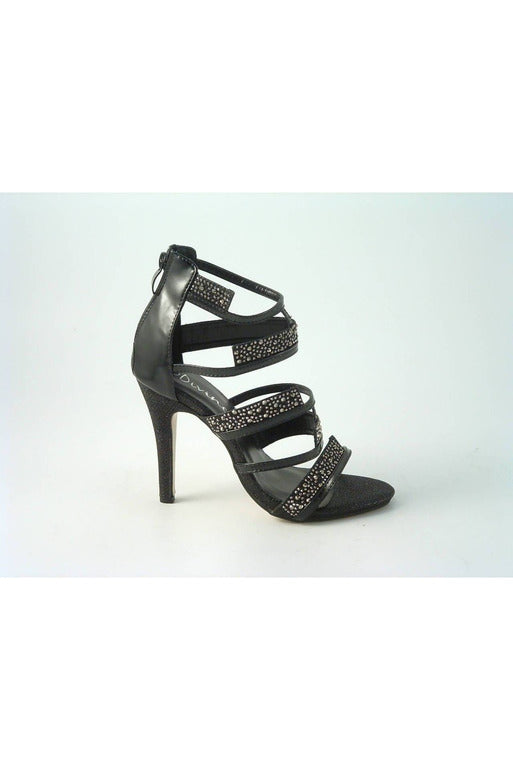 Glitz Shoes Divine Diamante Caged Strap Sandals