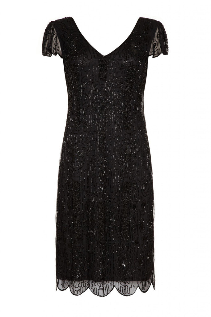 Downton Abbey Vintage Inspired Flapper Dress - Hand Embellished Gatsbylady London