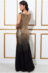 Stephanie Pratt – Sequin and Chiffon Maxi Dress - Blackgold