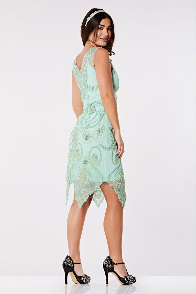 Emma Flapper Dress-Mint Gatsbylady London