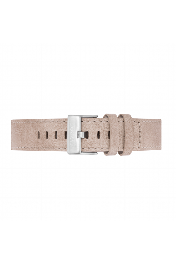 Tayroc Sand Leather Strap/Silver Buckle 22mm