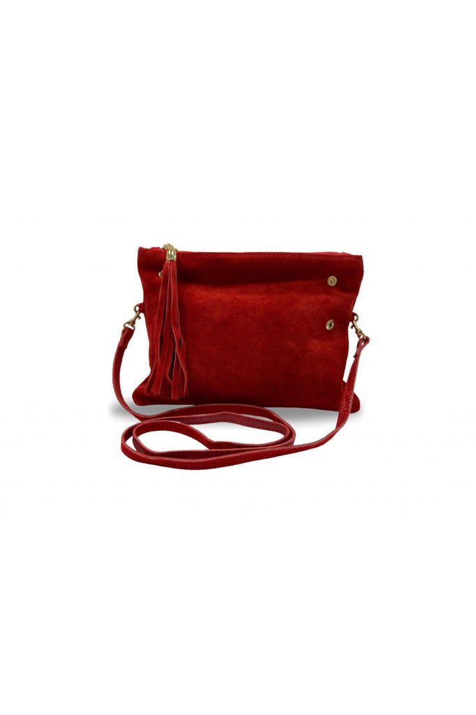 Woodland Leather Fold Over Petite Clutch Style Bag - RED Woodland Leathers