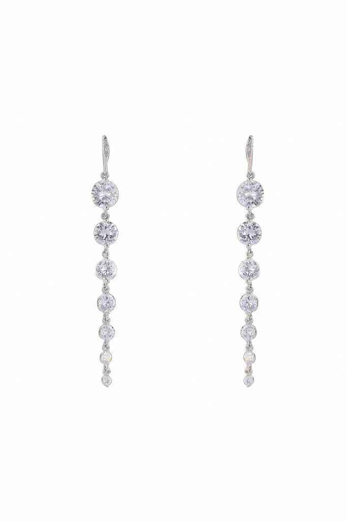 LoveRocks LONG TAPERED 7 CZ STONE EARRING