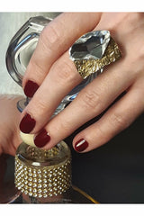 Dora Georgiou Gold Crystal Ring
