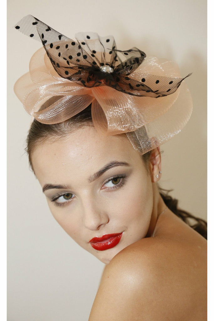 RubyRocks Pedra Fascinator - Peach