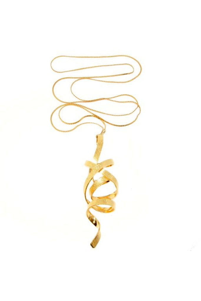 Dora Georgiou Gold Ribbon Necklace