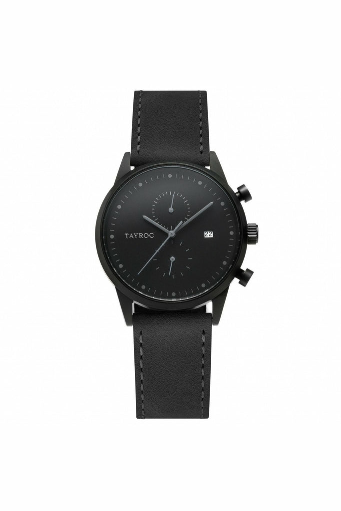 Tayroc Mens Black On Black Watch