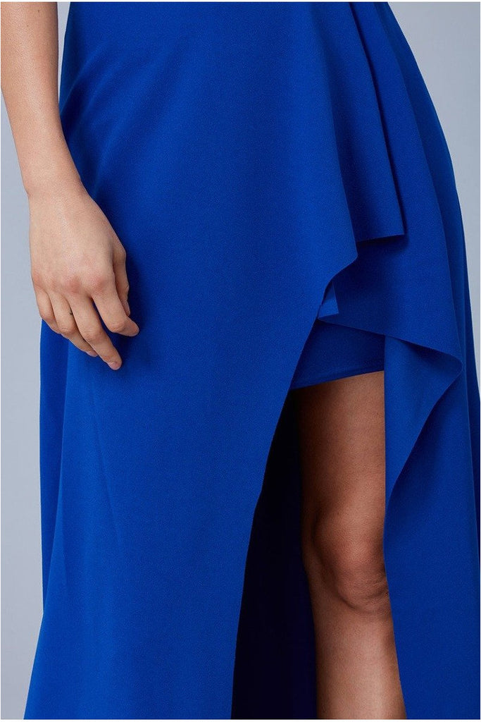 Goddiva - One Shoulder High Leg Maxi Dress
