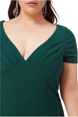 Goddiva Plus Sweetheart Neck Maxi Dress - Emerald