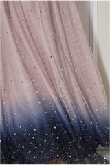 Goddiva Ombre Shoulder Wing Maxi Dress - Blush