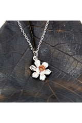 Simon Kemp Jewellers Daffodil Pendant in Silver and Rose Gold