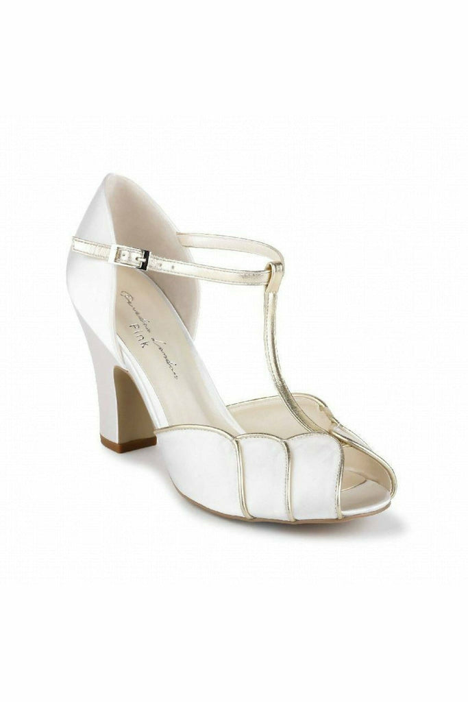 Paradox London Satin 'Chandler' High Heel T-bar Sandals