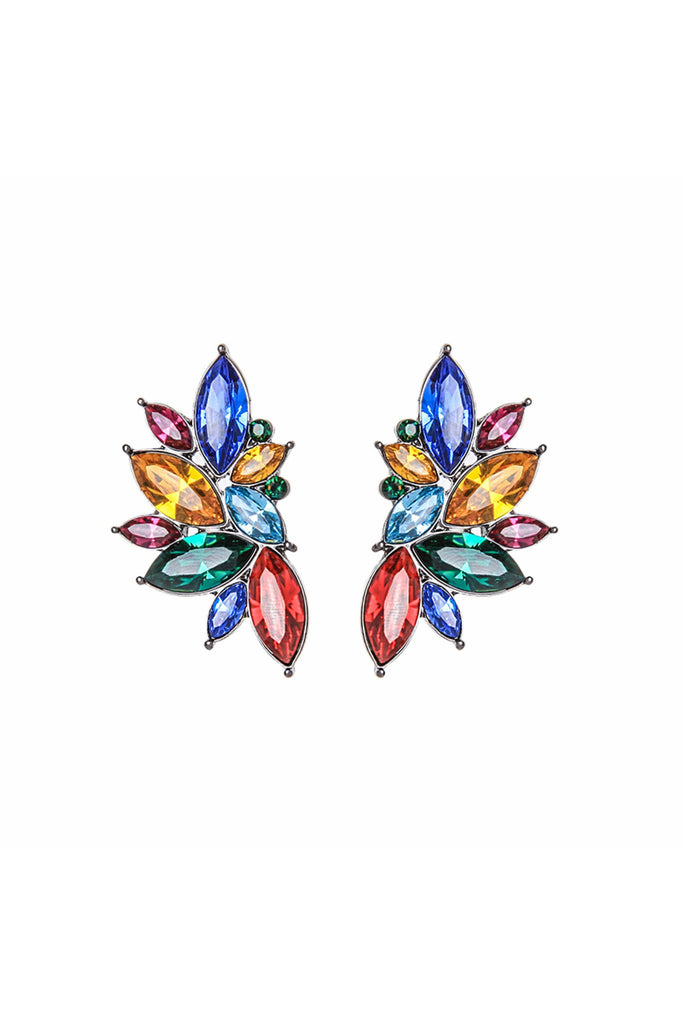 Last True Angel Crystal cluster earring in multi-colour