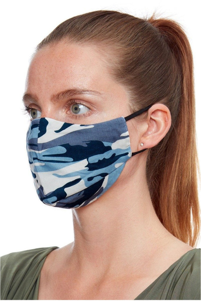 Goddiva Fashion Face Mask - Army Navy