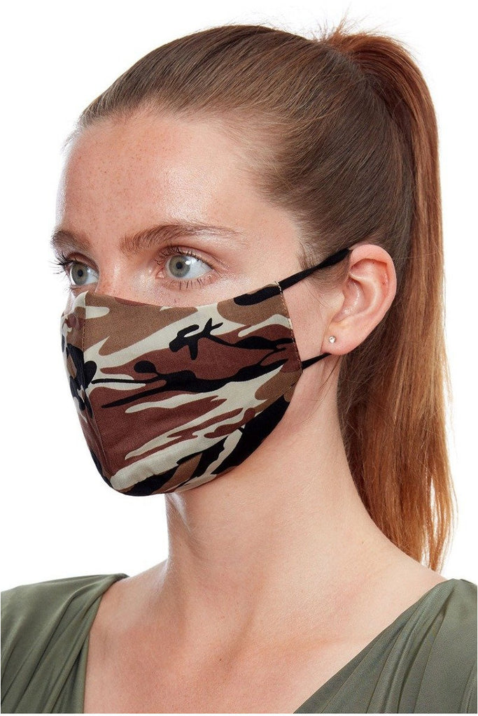 Goddiva Fashion Face Mask - Army Brown