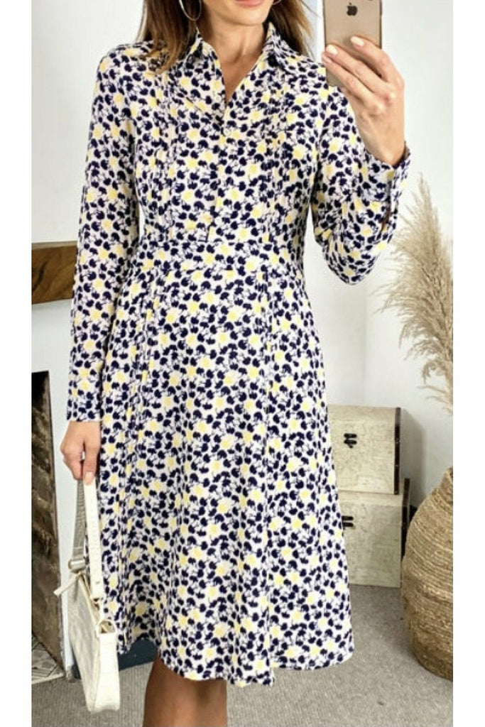 Fever London Stella Printed Shirt Dress
