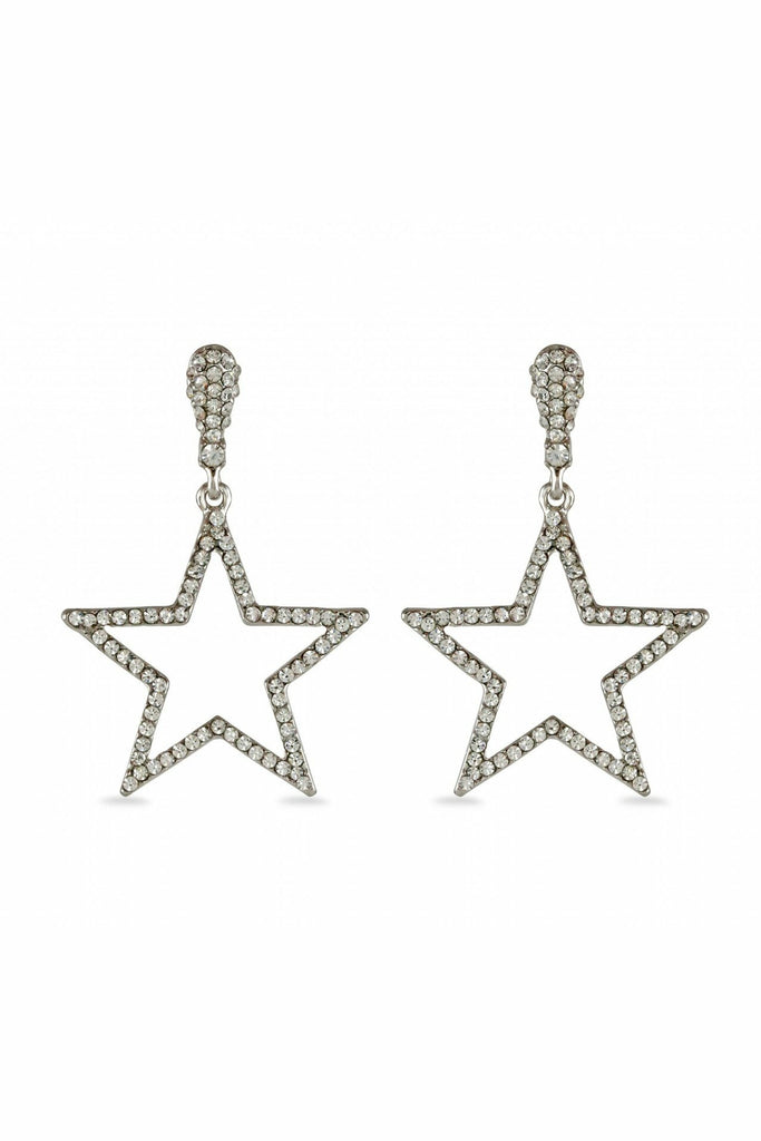 LoveRocks CRYSTAL STAR OUTLINE EARRING