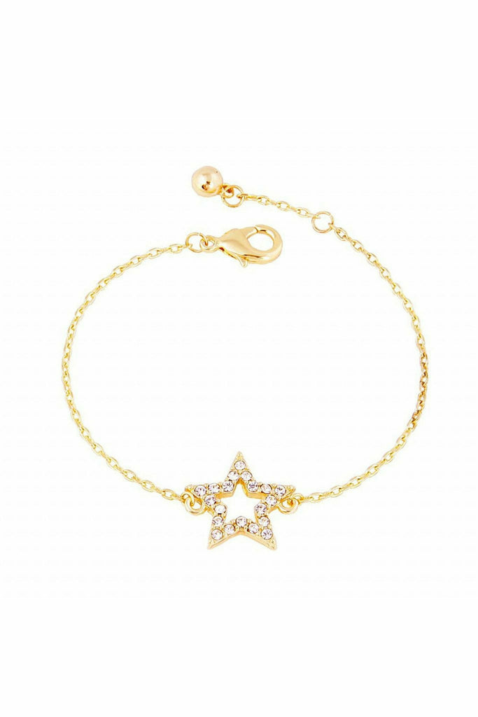 Last True Angel Crystal star bracelet in gold