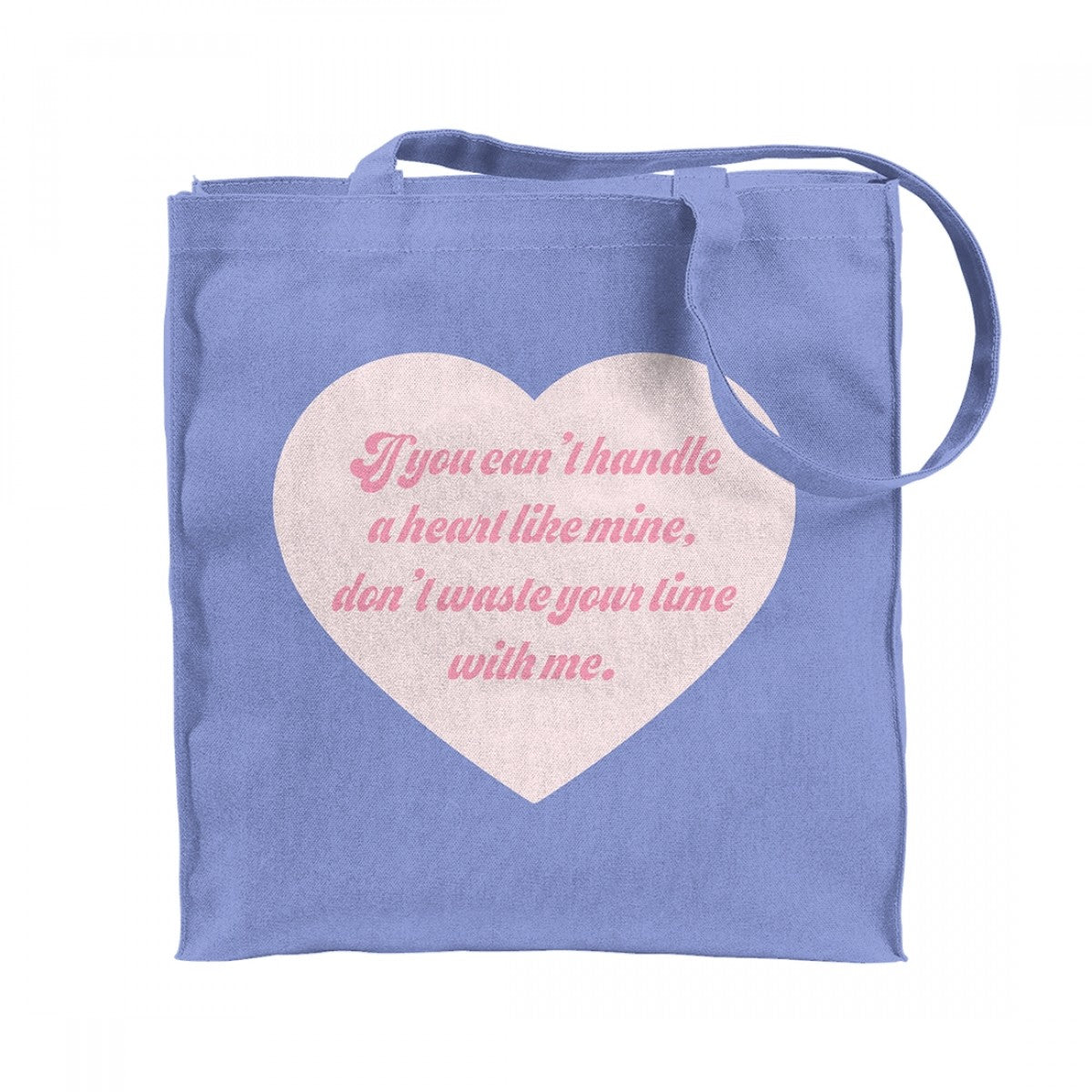 Melanie Martinez Handle Heart Tote Blue