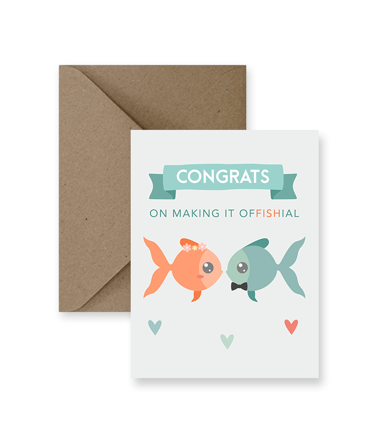 Congrats On Making It Offishial Wedding Card