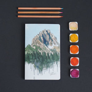 Drawing Mountains Layflat Journal