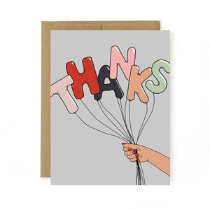 Thank You Card - Balloons