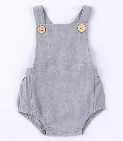 100% Organic Cotton Romper with stylish buttons
