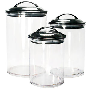 Acrylic Canisters - Set of 3