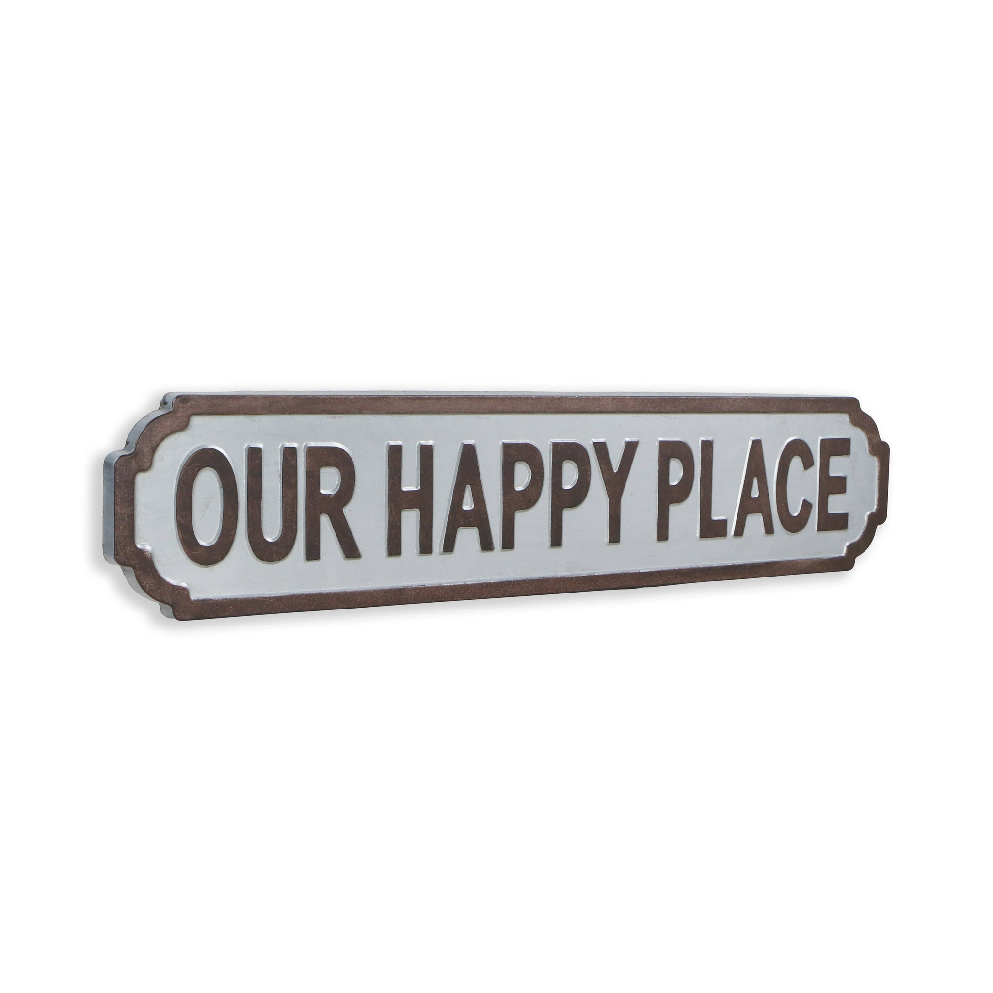 Galvanized Metal Wall Sign - Our Happy Place