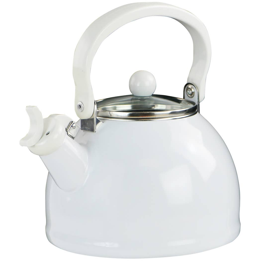Whistling Tea Kettle With Glass Lid