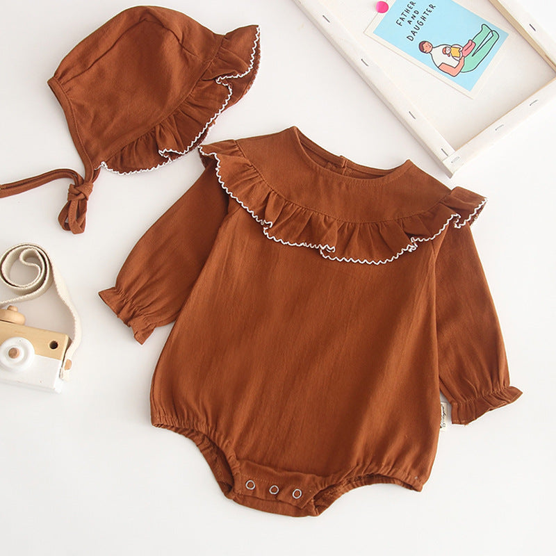 Linen cotton romper set