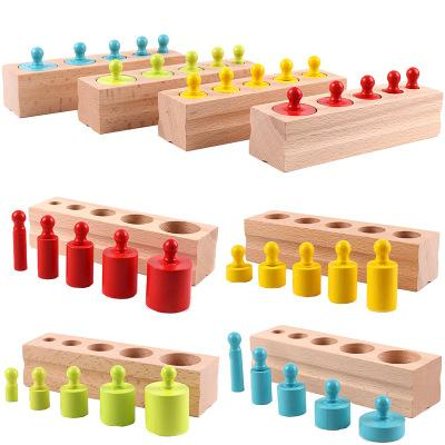 Montessori Wooden Cylinder Blocks